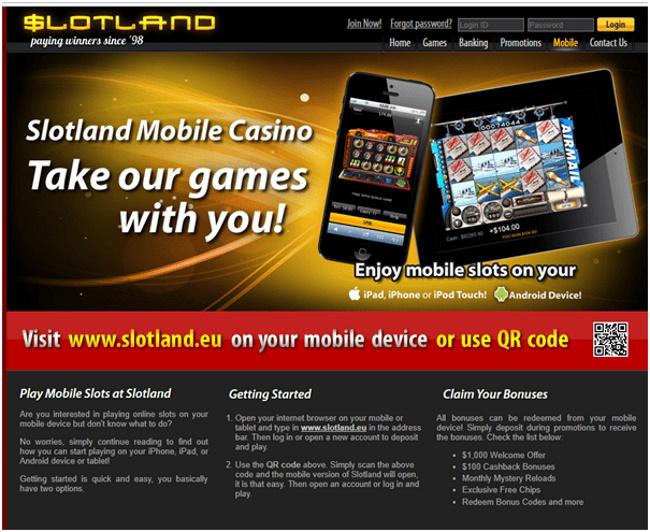Slotland-casino-for-iPad