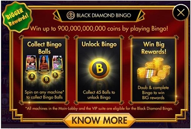 Bingo game at diamond casino
