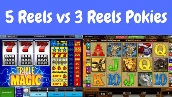 5 Reels Vs 3 Reels Pokies games