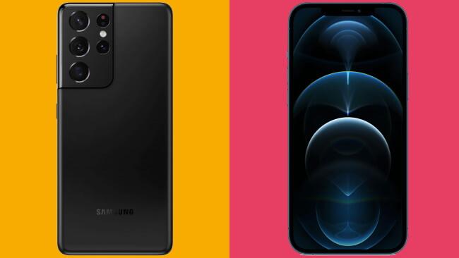 5G - Galaxy S21 Ultra vs. iPhone 12 Pro Max