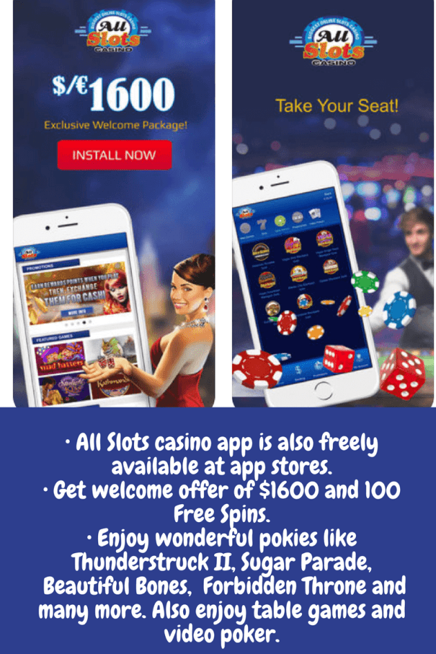 A;ll Slots pokies for mobile app