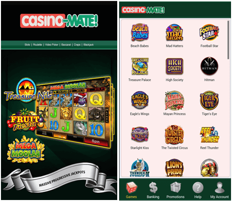 Casino Mate Games to play