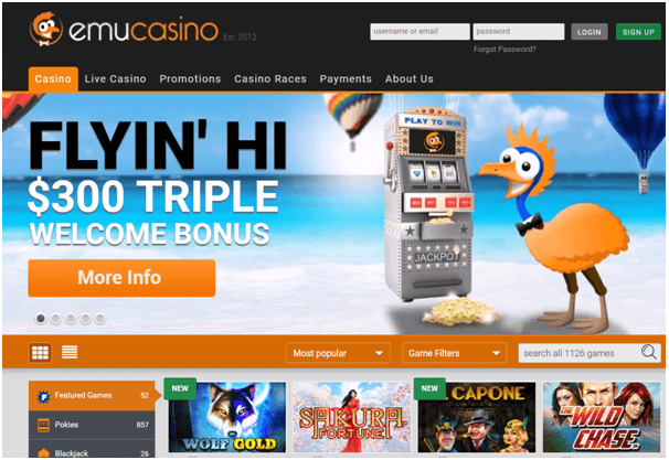 Emu Casino $300 triple bonus nz