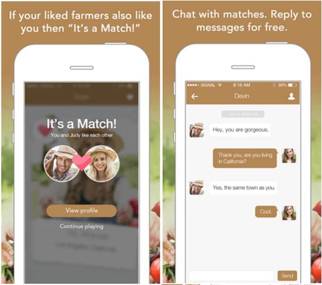Farmers Match dating app