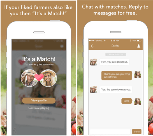 Farmers Match dating app