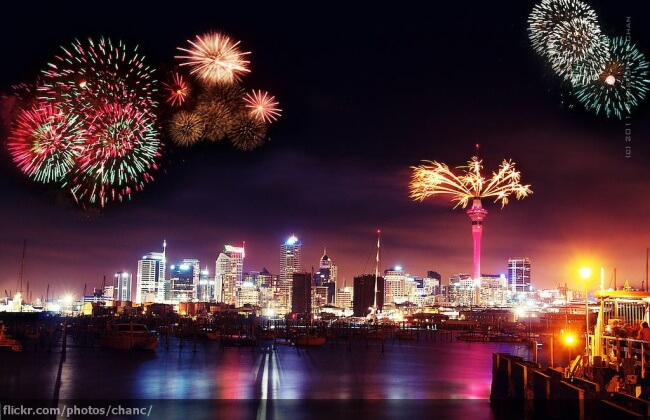Fireworks at Auckland