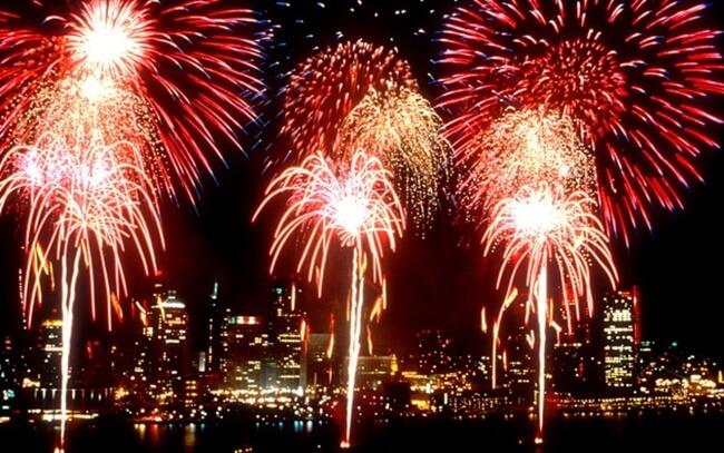 Fireworks at Queenstown