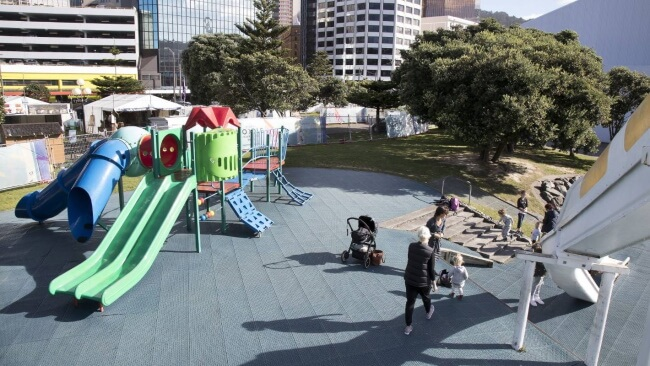 Frank Kitts Park Playground Waterfront - Playgrounds