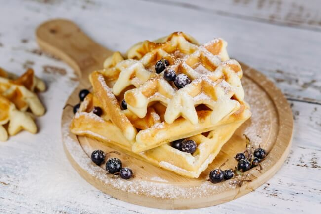 Grab Hot Waffle from The Littel Waffle Shop