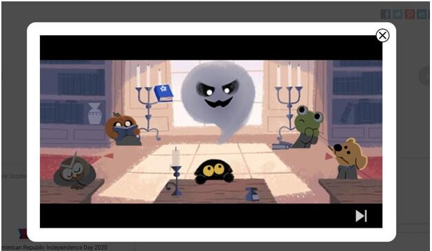 Halloween Google game