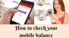 How to check your mobile balance