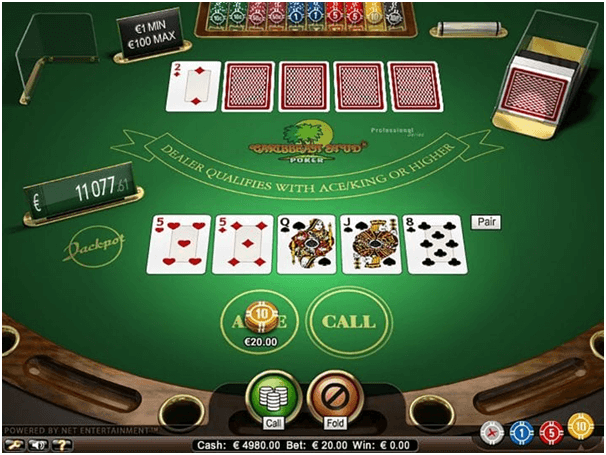 How to play Caribbean stud poker on mobile