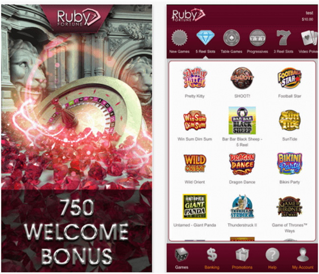 How to play pokies mobile at Ruby Fortune Casino