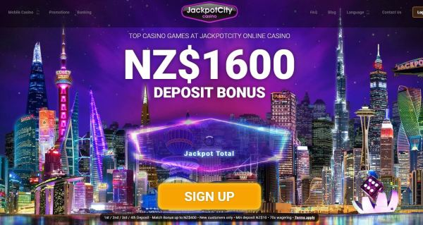 Jackpot City Casino New Zealand 1600 Welcome Bonus to New Players - Sign Up Now