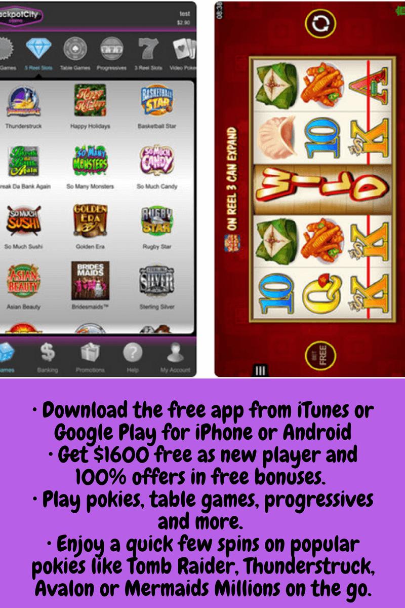Jackpot City Pokies for Mobile