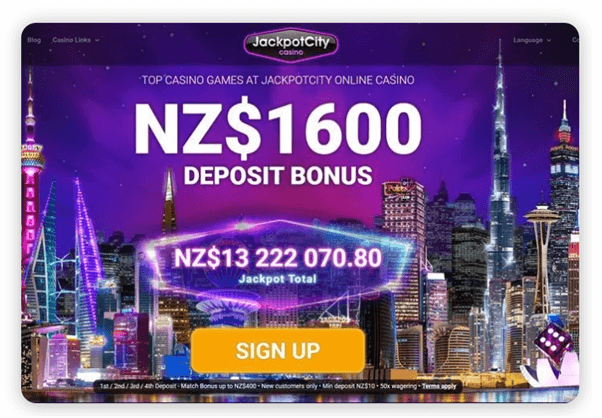 Jackpot city casino NZ mobile casino