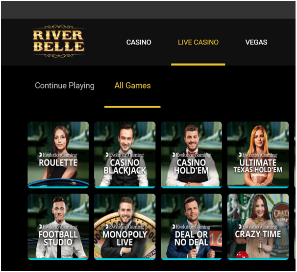Live Casino at River Belle Casino NZ
