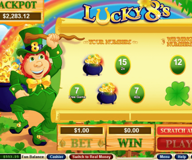 Lucky 8s scratchie