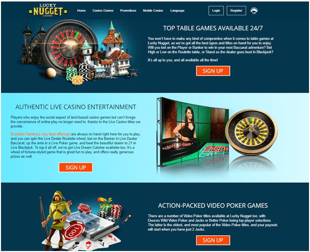 Lucky Nugget Casino NZ Online- Games to play