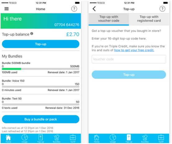 Tesco Mobile App