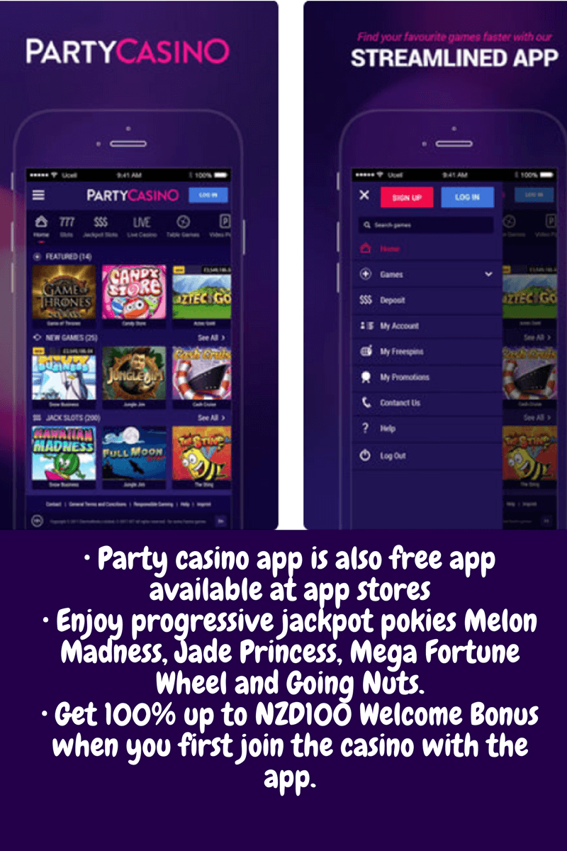Party casino pokies for mobile NZ
