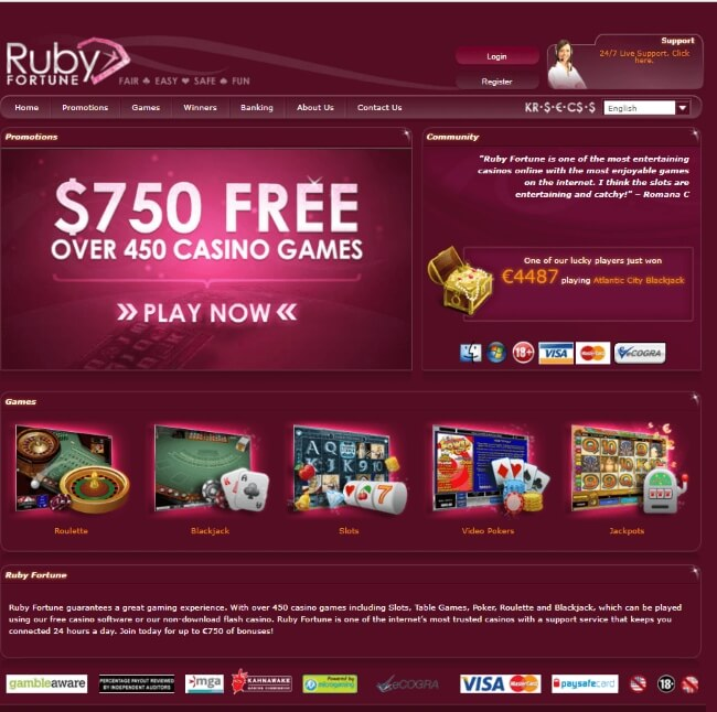 RUBY FORTUNE MOBILE_Top 4 Real Money Casinos in NZ