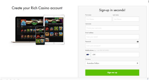 Rich Casino NZ - How to get started