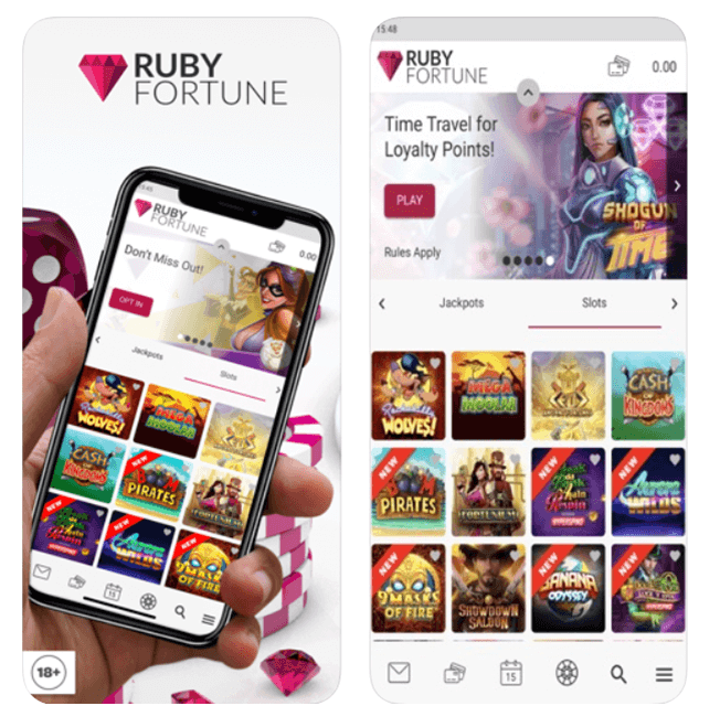 Ruby Fortune casino app to download
