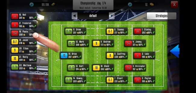 Rugby Manager App