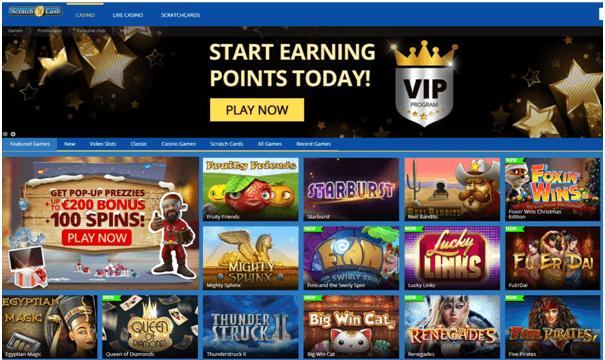 Scratch2Cash Casino- games
