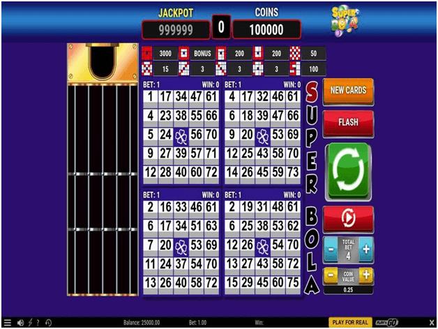 Superbola Bingo
