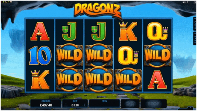 The wild and free spins in Dragonz