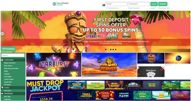 Touch mobile casino to play real money pokies