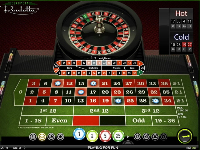 Types of Bets in European Roulette