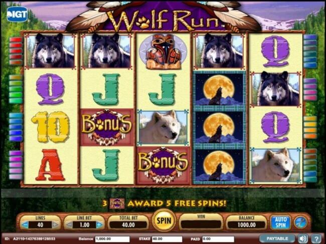 Wolf Run Free spin