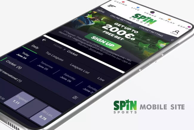 spin spots betting on mobile