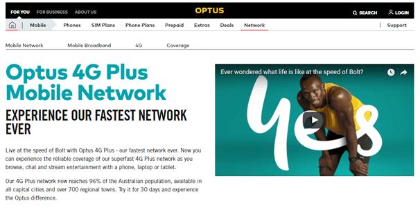 4G optus mobile