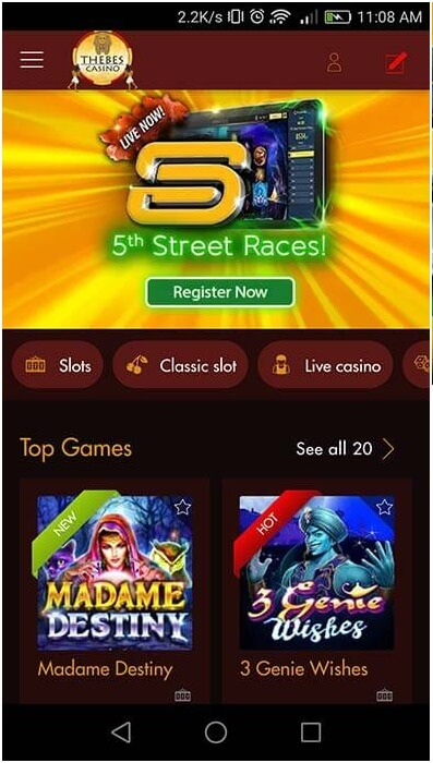 How to play 5th street races at online casinos?