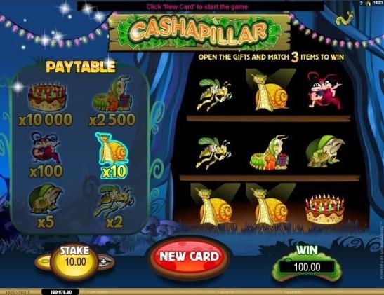 Bonus games in Cashapillar pokies