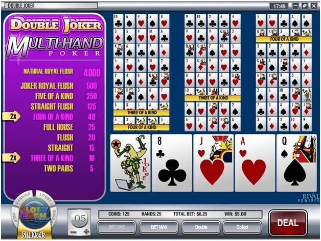 Double Joker Multihand poker