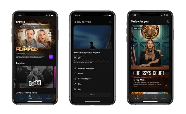 Features of Quibi App