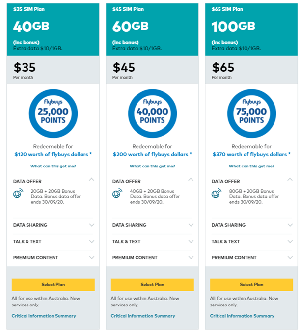 Optus flybuys plan and deals for mobile