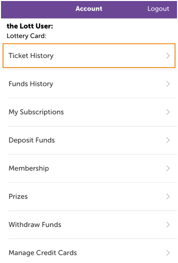 Check ticket history with mobile app