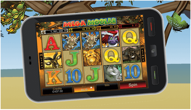 How to play Mega Moolah with mobile