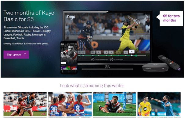 Kayo sports best plans