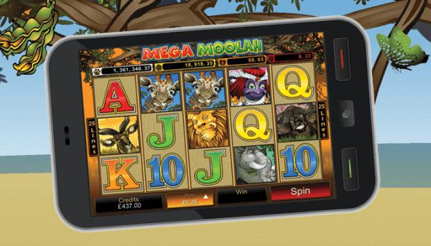 Play Mega Moolah with mobile