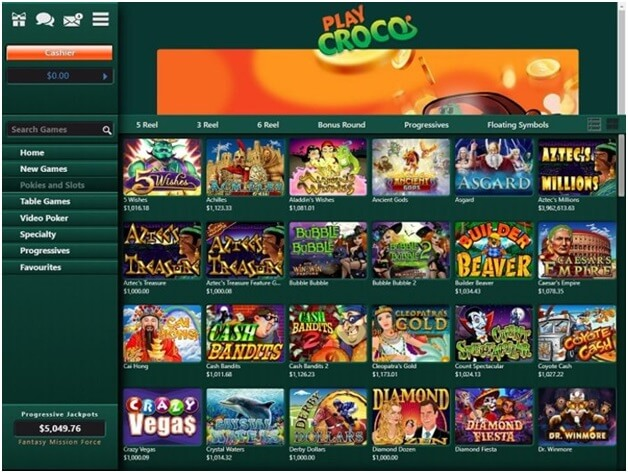 200 pokies to play at Play Croco Online Casino