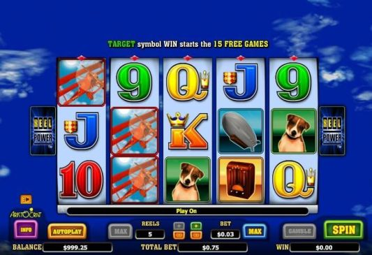 Red baron pokies game features