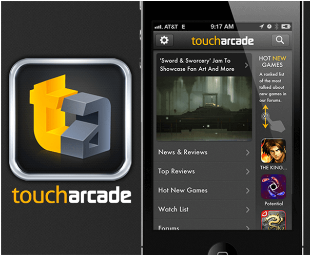 Find new games at Touch Arcade