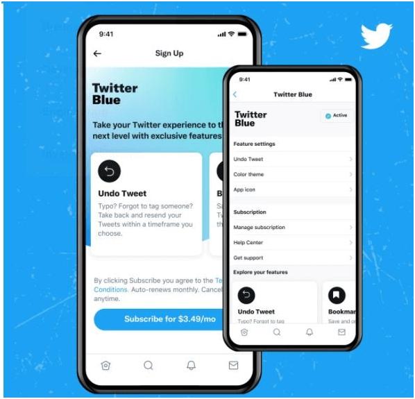 Twitter Blue - Undo tweet from notification